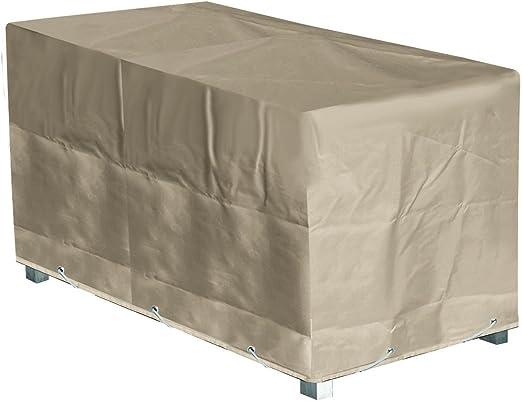 GREEN CLUB Housse de Protection Table de Jardin Rectangulaire Haute qualité  Polyester L 240 xl 110 xh 70 cm Couleur Beige