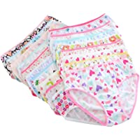 Weixinbuy Kids Toddler Baby Girl's Cotton Panties Underpants Underwear Knickers Briefs (Pack of 6)