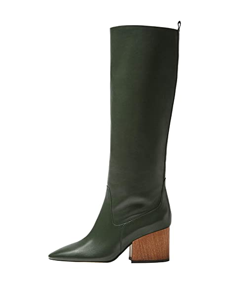 Massimo Dutti - Botas para Mujer Verde Verde, Color Verde, Talla 40: Amazon.es: Zapatos y complementos