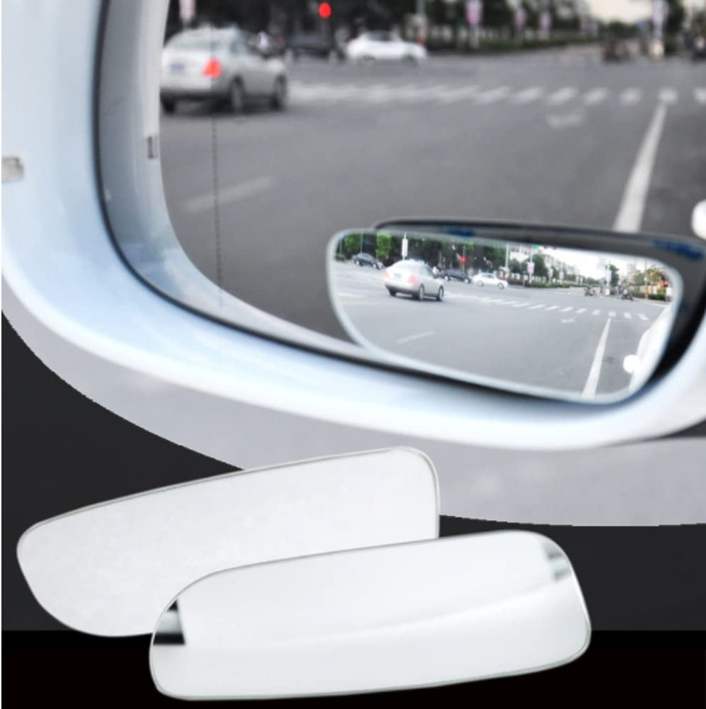 2 pack Blind Spot Mirrors HD Glass Square Small Blindspot for Cars Trucks SUV Traffic Safety