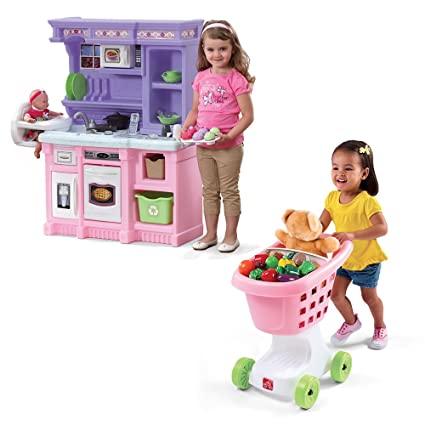 Amazon Com Step2 Little Baker S Kitchen Play Set Toys Games