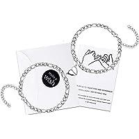 Magnetic Bracelet for Couples Matching Bracelets Best Friend Long Distance Bracelet Love Heart Magnet Bracelets…