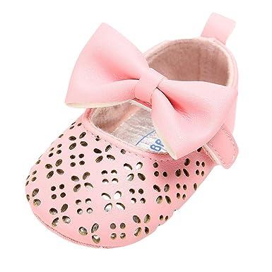 Flight Tracker Sweet Baby Girls Princess Polka Dot Big Bow Infant Toddler Ballet Dress Soft Soled Anti-slip Shoes Footwear Prewalkers Excellent Quality Mother & Kids First Walkers