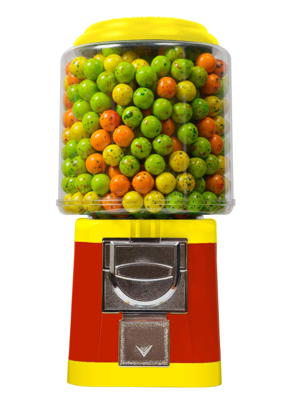 Gumball Vending Machine & Bouncy Balls Vending Machine & Toys Vending Machine & Capsule Vending Machine - Red Body & Yellow Trim - without stand by Global Gumball