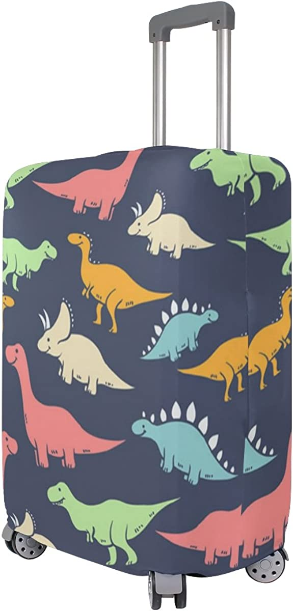 Elastic Travel Luggage Cover Dinosaurs Suitcase Protector for 18-20 Inch Luggage