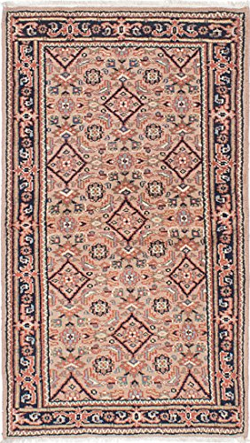 Ecarpetgallery Hand-Knotted Royal Mahal Open Field 3' x 5' Ivory 100% Wool Area Rug from eCarpet Gallery