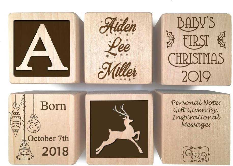 BABY/'S FIRST CHRISTMAS PERSONALISED VERSE Box@FESTIVE REINDEER GRANDSON Gift