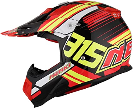 casque de Cross Protectwear casque de moto FS603-OR Taille: S casque Enduro orange-noir