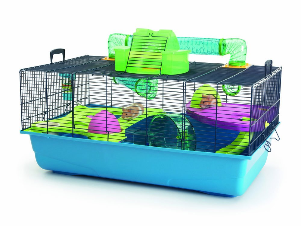 Navy Blue Hamster Cage, 80 x 50 x 50 cm With Handles For Travel