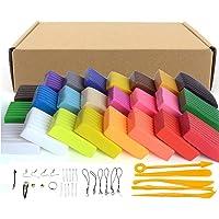 Set de bloques de arcilla polimérica para modelado, 24 colores, adecuada para hornear, segura y no tóxica, regalo ideal para niños