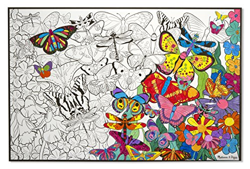 amazoncom melissa doug jumbo color in poster butterflies melissa doug toys games - Melissa And Doug Coloring Book