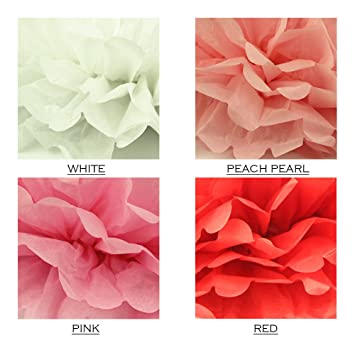 Amazon miss shanghai diy decorative tissue paper pom poms miss shanghai diy decorative tissue paper pom poms flower ball wedding party outdoor decoration 10pcs mightylinksfo