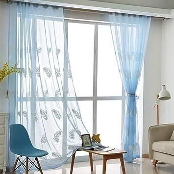 Vorhang mit Ösen Transparent Gardine Modern Wohnzimmer Stoff ...