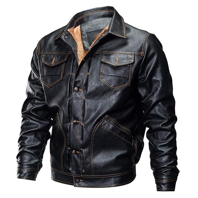 Cazadora de Cortavientos Hombre Chaquetas Abrigo Morwind Cuero Moto Bq1wHw