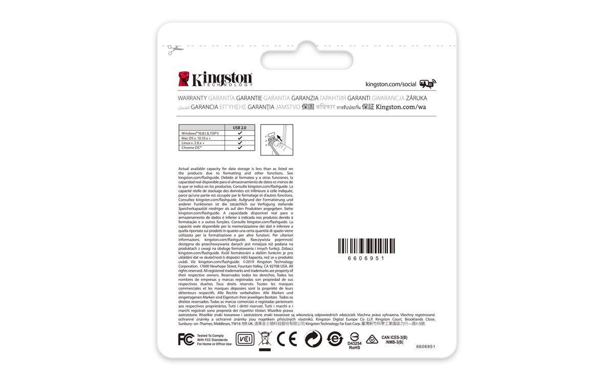 Cl/é USB 2.0 DT20//32GB Kingston DataTraveler 20 Noir