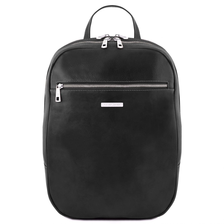 Amazon.com | Tuscany Leather Osaka Leather laptop backpack - TL141711 (Black) | Backpacks
