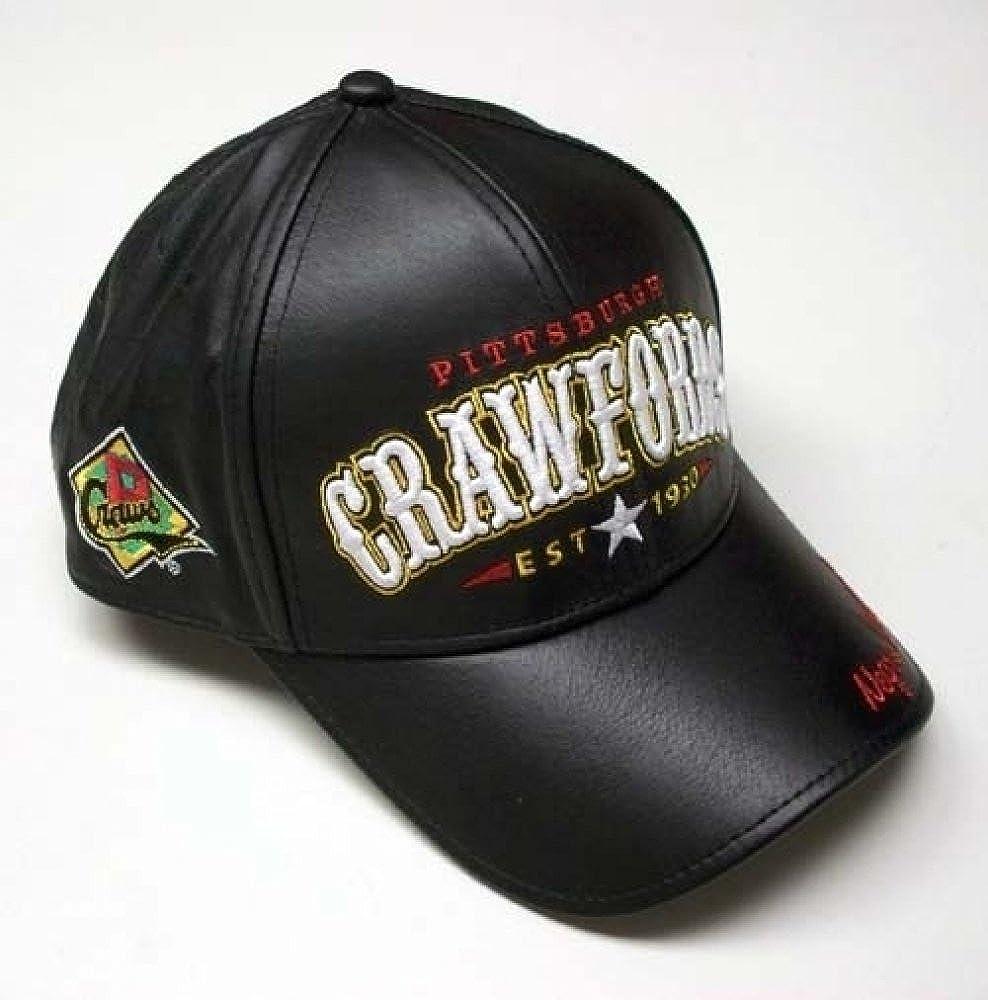 Cultural Exchange Big Boy Pittsburgh Crawfords Legends Mens Leather Baseball Cap Black - Adjus.