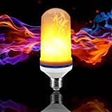JOLIFILE LED Flame Bulb,Dynamic Fire Effect Light E27/E26 Candles for Holiday Hotel/Bars/Home Festival Decoration/Restaurants