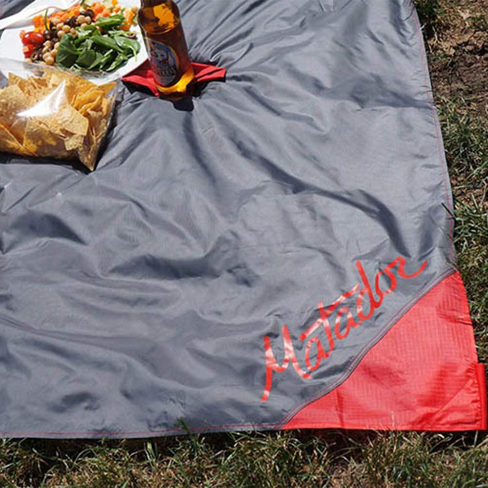 camping beach Pocket Blanket picnic Water Resistant with Built-in Ground Stakes hiking