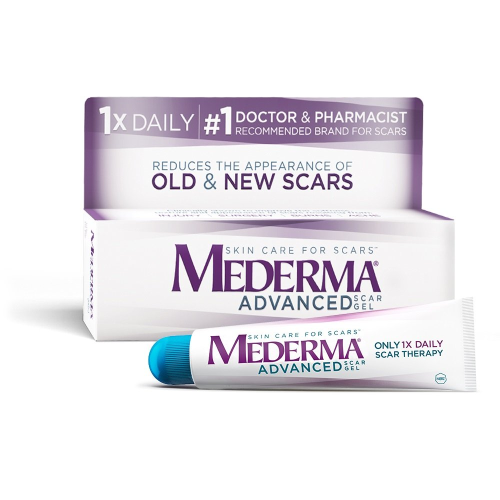 Mederma Advanced Scar Gel - 1x Daily: Use less, save more - Reduces the Appearance of Old & New Scars - #1 Doctor & Pharmacist Recommended Brand for Scars - 0.7 ounce by Mederma