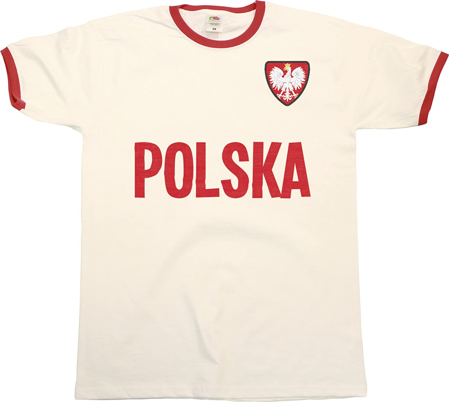 Mens Polska Poland Pologne Name Hommes Ringer Retro T-Shirt Sports Football Patriotic