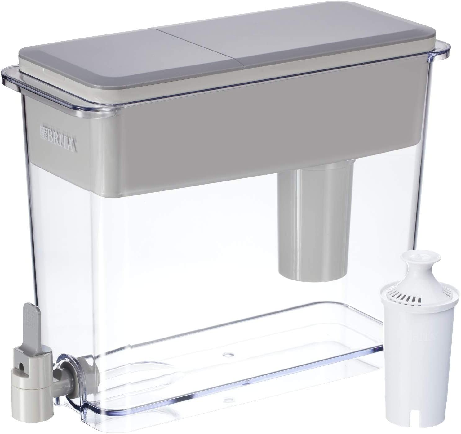 Brita 18 Cup UltraMax Water Dispenser with 1 Filter, BPA Free, Gray, Extra Large: Kitchen & Dining
