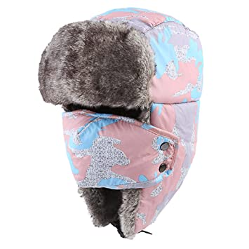 Unisex Winter Warm Trooper Hat Ear Flap Hat Russian Style Thicken Windproof  Outdoor Sports Camping Hiking 545cf65afaf4