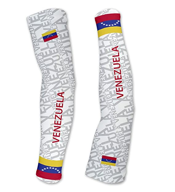 65147a8f9be Venezuela ScudoPro Compression Arm Sleeves UV Protection Unisex - Walking -  Cycling - Running - Golf