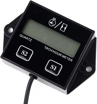 R Digital Gauge Engine Tachometer SODIAL SRT-11A Waterproof IP65 Car Digital Gauge Engine Tachometer Tachometer Operating hours