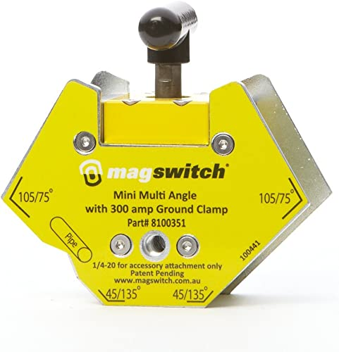 Magswitch – 8100351 Mini Multi Angle w 300amp GC Mini Multi Angle with 200 Amp, Yellow Silver Black