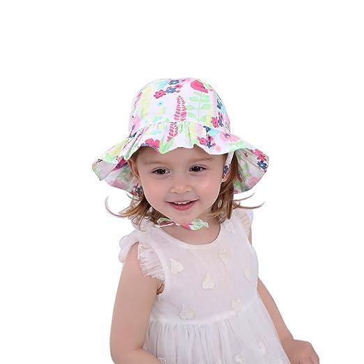 92c6e6ac Baby Girl Sun Hat 0-6months Newborn Floppy Bucket Hats Chin Strap Sunbonnet  100%