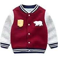 famuka Toddler Boy Coat Little Kids Baseball Cardigan Jacket