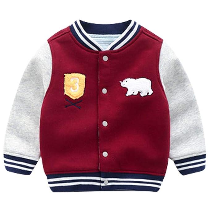 Amazon.com: Famuka - Chaqueta de béisbol para bebé, chaqueta ...