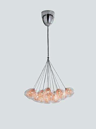Colmore - Lámpara de techo en cromo Cobre 19 x G4 hasta 10 W ...