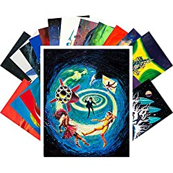 Postcard Set 24pcs Vintage SciFi Psychedelic Surrealistic Comic Art by Jack Gaughan