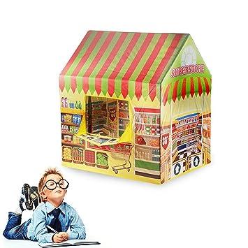 Supermarket Play House Castle Tent Toys FOONEE Kids Play House Tent Indoor Children Pretend Playhouse Indoor Outdoor Playhouse Birthday Gift