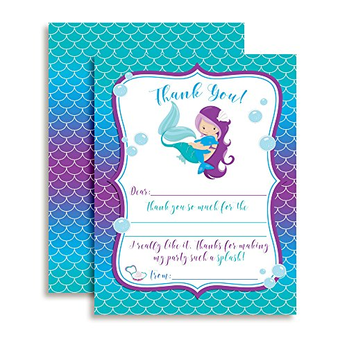 Note Mermaid (Magical Mermaid Thank You Notes for Kids, Ten 4