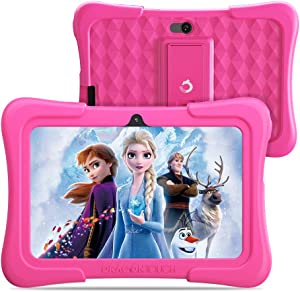 Dragon Touch Y88X Pro 7 inch Kids Tablets, 2GB RAM 16GB ROM, Android 9.0 Tablet, Kidoz Pre Installed with Disney Contents (More Than $80 Value), Pink