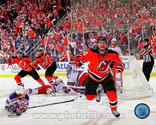 Adam Henrique NJ Devils Overtime Goal Celebration Photo 11x14