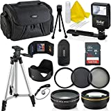 Photo : Professional 58MM Accessory Bundle Kit For Canon Rebel T6i T6 T6S T5 T5i T7 T7i T4i T3 T3i T2i T1i & DSLR Cameras , 15 Accessories for Canon