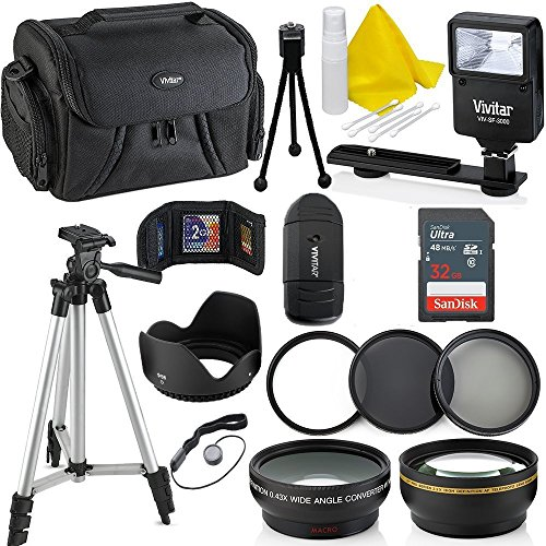 Professional 58MM Accessory Bundle Kit For Canon Rebel T6i T6 T6S T5 T5i T7 T7i T4i T3 T3i T2i T1i & DSLR Cameras , 15 Accessories for Canon