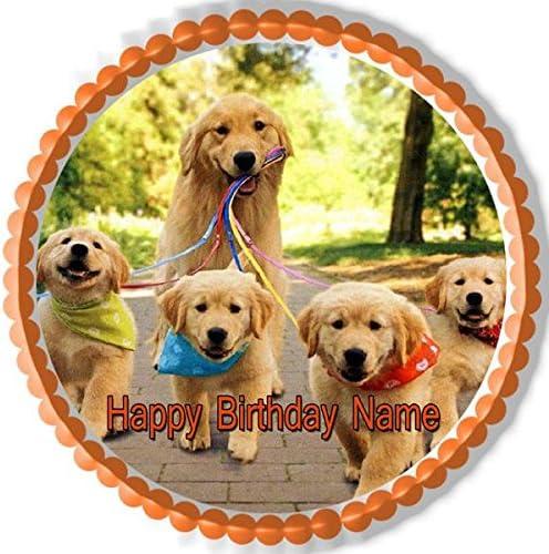 Outstanding Amazon Com Golden Retriever Dog Puppy Edible Cake Topper 6 Funny Birthday Cards Online Alyptdamsfinfo