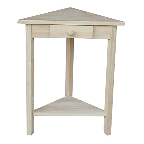 Amazon Com International Concepts Ot 95 Corner Accent Table Unfinished Kitchen Dining
