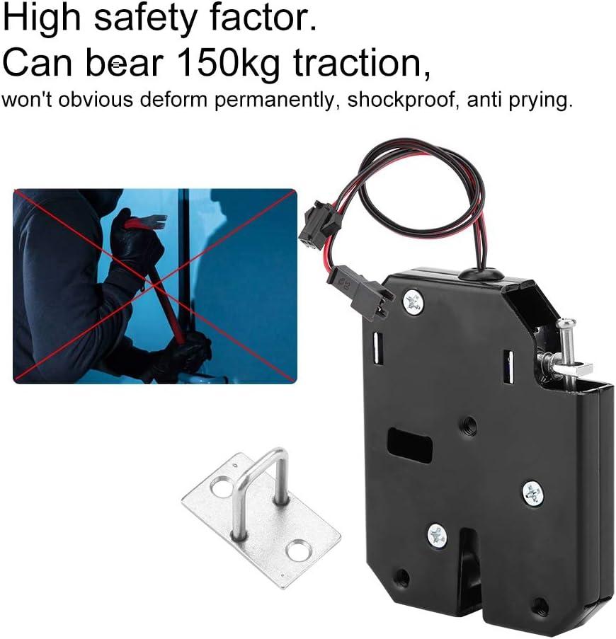 Cerradura electromagn/ética de 12 V CC para caj/ón de armario con control el/éctrico con interruptor de detecci/ón