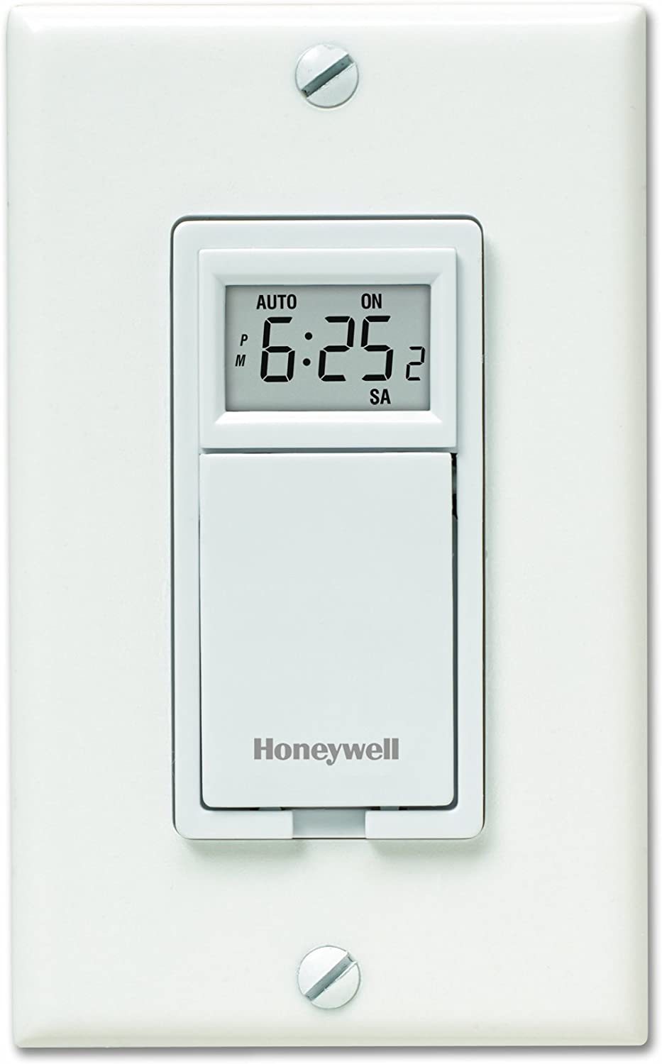 Honeywell RPLS530A 7-Day Programmable Timer Switch, White (Requires 40 W minimum) (Renewed)