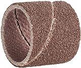 """Pack of 75 Aluminum Oxide Spiral Abrasive Sanding Bands 1/2"""" w/Sanding Drum Mandrel - Dremel Rotary 408 432 445"""