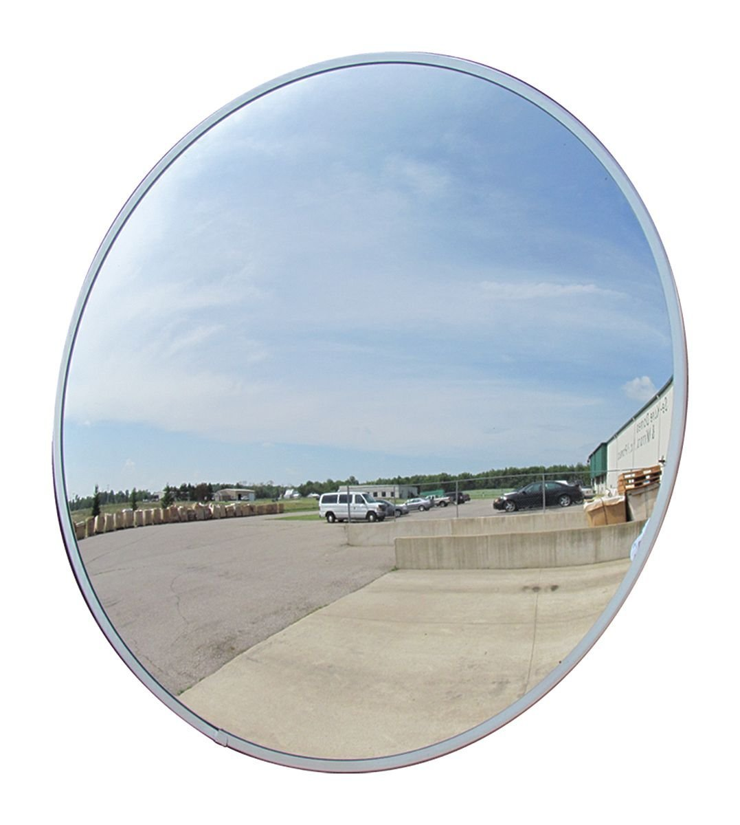 """12"""" Acrylic Convex Mirror, Round Indoor Security Mirror for the Garage Blind Spot, Store Safety, Warehouse Side View, and More, Circular Wall Mirror for Personal or Office Use - Vision Metalizers IC1200"""
