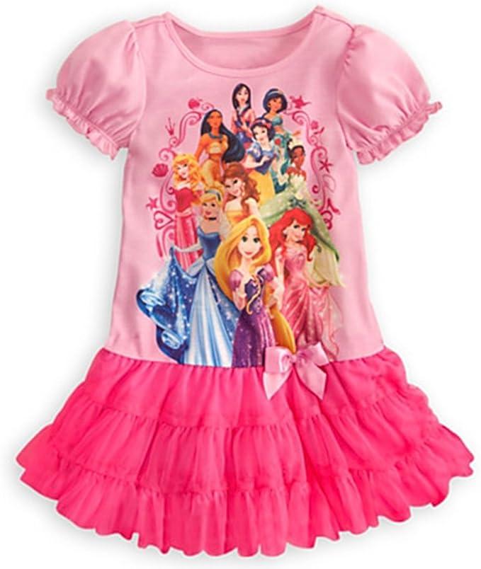 Komar Kids Girls Disney Rapunzel Belle Toddler Pajama with Tutu 2T Cinderella
