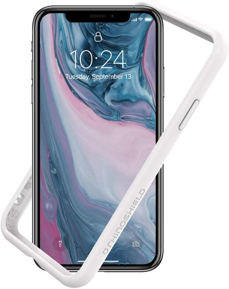 RhinoShield Ultra Protective Bumper Case Compatible with [iPhone Xs Max] | CrashGuard NX - Military Grade Drop Protection Against Full Impact, Slim, Scratch Resistant - White