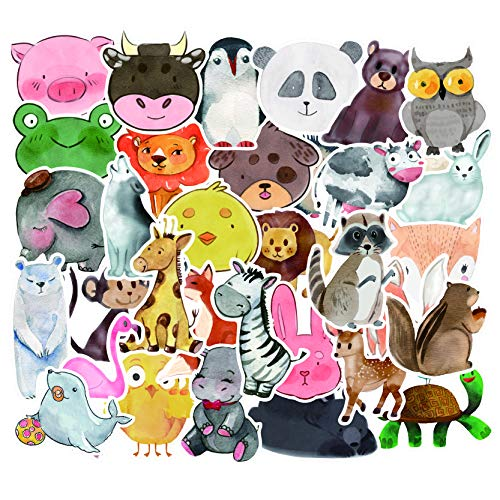 Honch Cute Cartoon Animal Stickers Girl Lovely Stickers Pack 50 Pcs Suitcase Stickers Vinyl Decals for Laptop Bumper Helmet Ipad Car Luggage Water Bottle